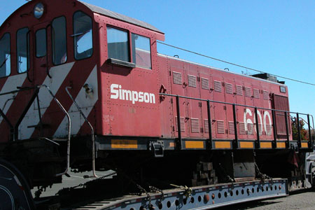Locomotive: Alco Diesel-Electric, Simpson Timber Co. #600