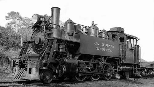 Locomotive: Baldwin Steam, California Western #14