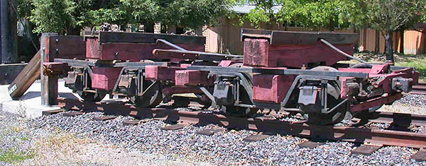 Rail Disconnect Trucks, Mendocino Lumber