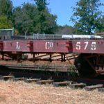 Rail Flatcar, Pacific Lumber Company #575