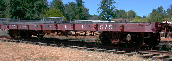 You are currently viewing Rail Flatcar, Pacific Lumber Company #575