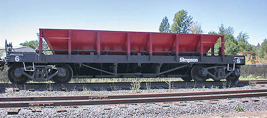 Rail Ballast Car, Simpson Timber Company #6
