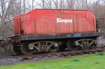 Rail Fire Car, Simpson Timber Company