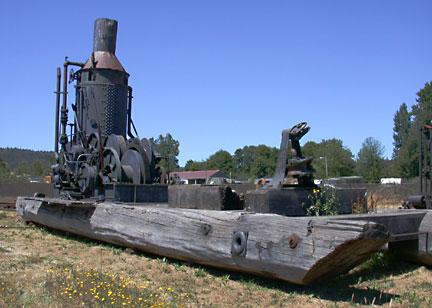 Donkey, Washington Iron Works #3404 Three-spool Yarder